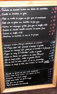Chez Michel Chalkboard